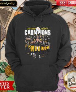 Pittsburgh Steelers Team Football Afc North Division Champions Signatures Hoodie - Design By Viewtees.com