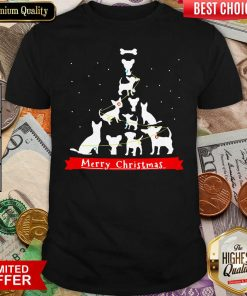 Chihuahua Merry Christmas Tree Shirt - Design By Viewtees.com
