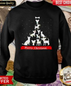 Chihuahua Merry Christmas Tree Sweatshirt - Design By Viewtees.com