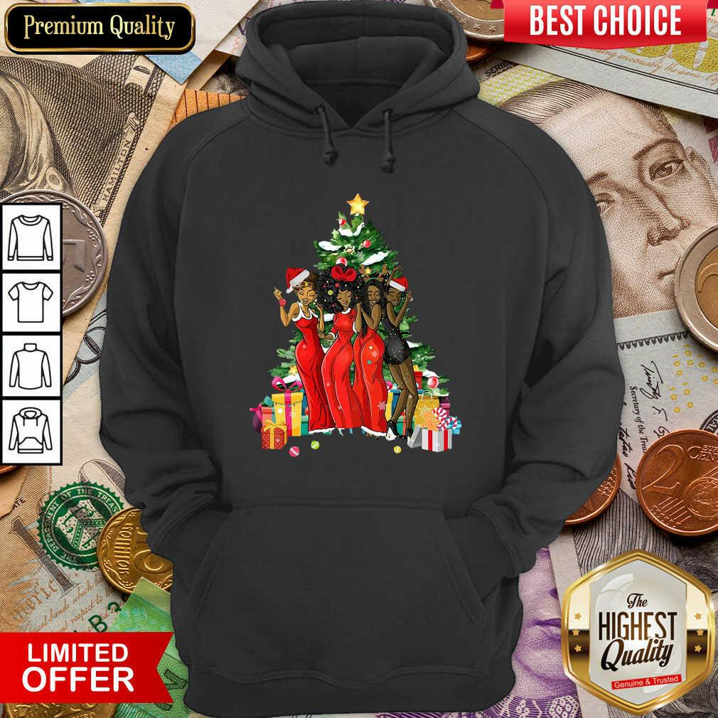 Girl Magic Merry Christmas Tree Collection Hoodie - Design By Viewtees.com