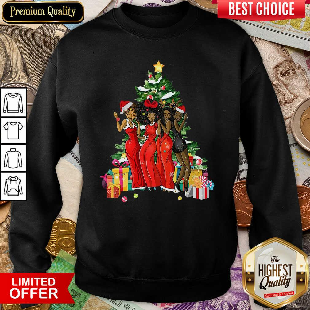 Girl Magic Merry Christmas Tree Collection Sweatshirt - Design By Viewtees.com