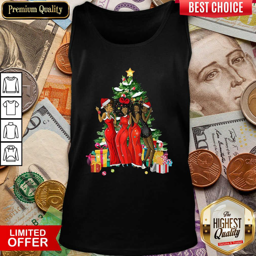 Girl Magic Merry Christmas Tree Collection Tank Top - Design By Viewtees.com