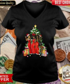 Girl Magic Merry Christmas Tree Collection V-neck - Design By Viewtees.com