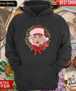 I Love Lucy Christmas Wreath Hoodie - Design By Viewtees.com