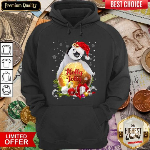 Penguin Holly Jolly Ball For You For Penguin Lover Crewneck Christmas Hoodie - Design By Viewtees.com