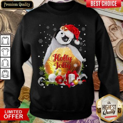 Penguin Holly Jolly Ball For You For Penguin Lover Crewneck Christmas Sweatshirt - Design By Viewtees.com