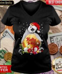 Penguin Holly Jolly Ball For You For Penguin Lover Crewneck Christmas V-neck - Design By Viewtees.com