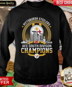 Pittsburgh Steelers 2020 Afc South Division Champions Sweatshirt - Design By Viewtees.com