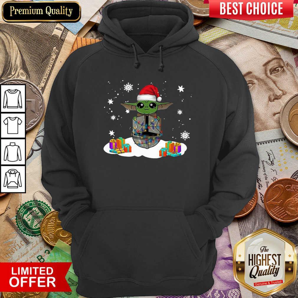 Santa Baby Yoda Merry Christmas Gift Hoodie - Design By Viewtees.com