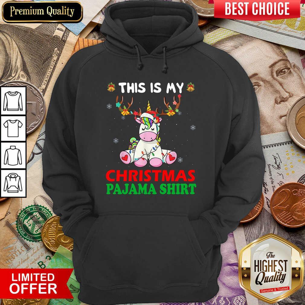Unicorn Reindeer This Is My Christmas Pajama Hoodie - Design By Viewtees.com