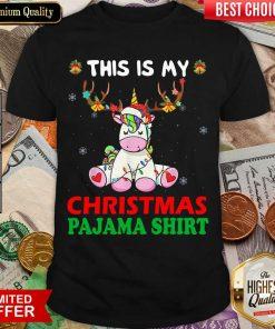 Unicorn Reindeer This Is My Christmas Pajama Shirt - Design By Viewtees.com