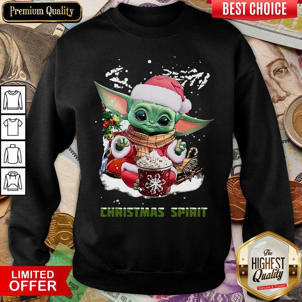 Santa Baby Yoda Christmas Spirit Sweatshirt - Design By Viewtees.com