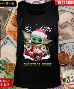 Santa Baby Yoda Christmas Spirit Tank Top - Design By Viewtees.com