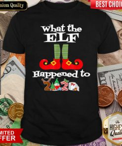 What The Elf Happened To 2020 Christmas Holiday Shirt - Design By Viewtees.com