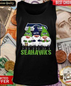 Gnomies Seattle Seahawks Christmas Tank Top - Design By Viewtees.com