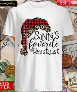 Santa's Favorite Hair Stylist Shirt - Design By Viewtees.com