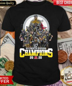 Pittsburgh Steelers Afc North Division Champions 2020 Signatures Shirt - Design By Viewtees.com