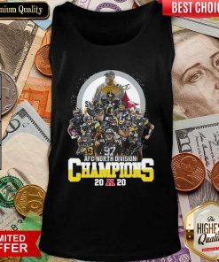 Pittsburgh Steelers Afc North Division Champions 2020 Signatures Tank Top - Design By Viewtees.com