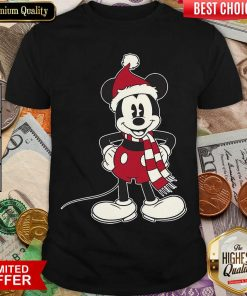 Mickey Mouse Santa Hat Merry Christmas Shirt - Design By Viewtees.com