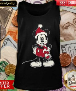 Mickey Mouse Santa Hat Merry Christmas Tank Top - Design By Viewtees.com