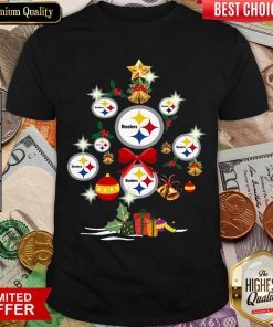 Pittsburgh Steelers Merry Christmas Tree Gift Shirt - Design By Viewtees.com
