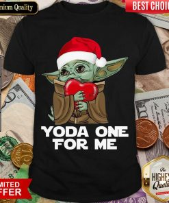 Santa Baby Yoda One For Me Hug Heart Christmas Shirt - Design By Viewtees.com
