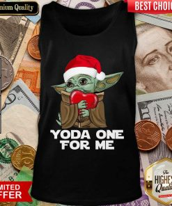 Santa Baby Yoda One For Me Hug Heart Christmas Tank Top - Design By Viewtees.com