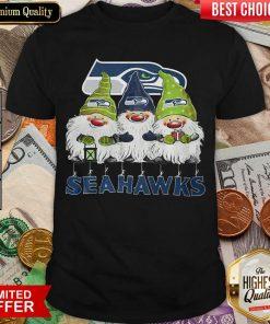 Seattle Seahawks Gnomies Christmas Shirt - Design By Viewtees.com