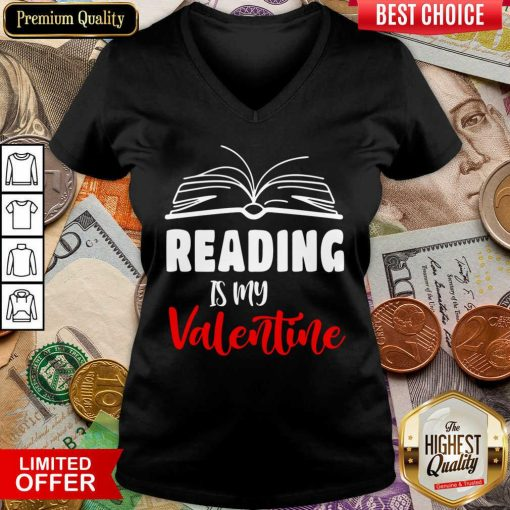 Awesome Reading Is My Valentine V-neck