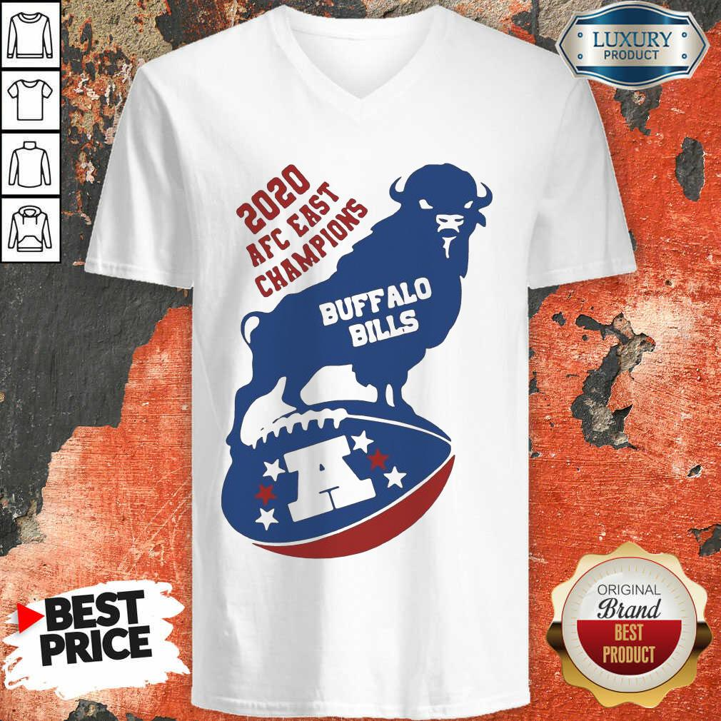Funny 2020 AFC East Champions Buffalo Bills Football V-neck