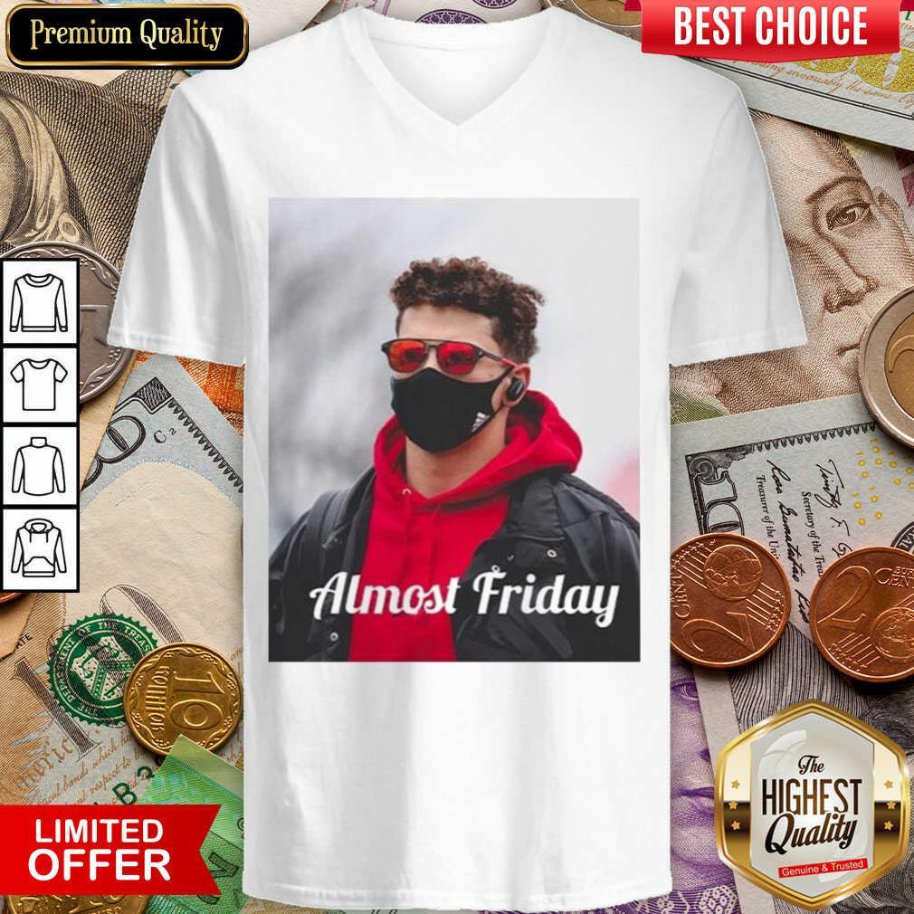 Funny Almost Friday Pregame Patrick 96 V-neck