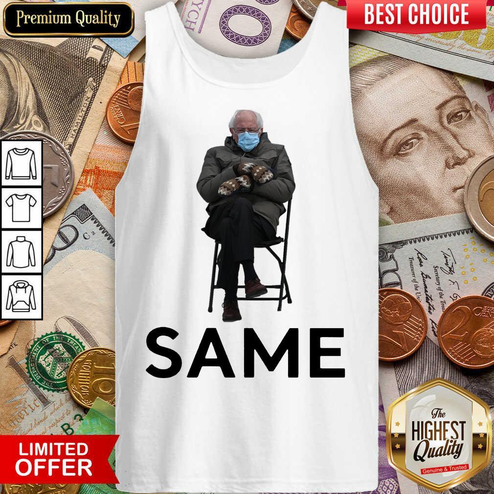 Funny Bernie Sanders Mittens Same 2021 Tank Top