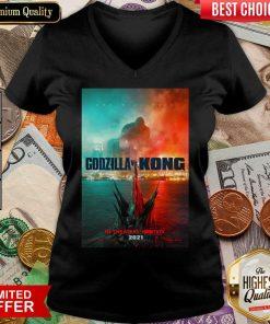 Good Godzilla vs Kong Poster 446 V-neck