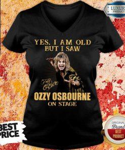 Top Yes I Am Old But I Saw Ozzy Osbourne On Stage Signature V-neck