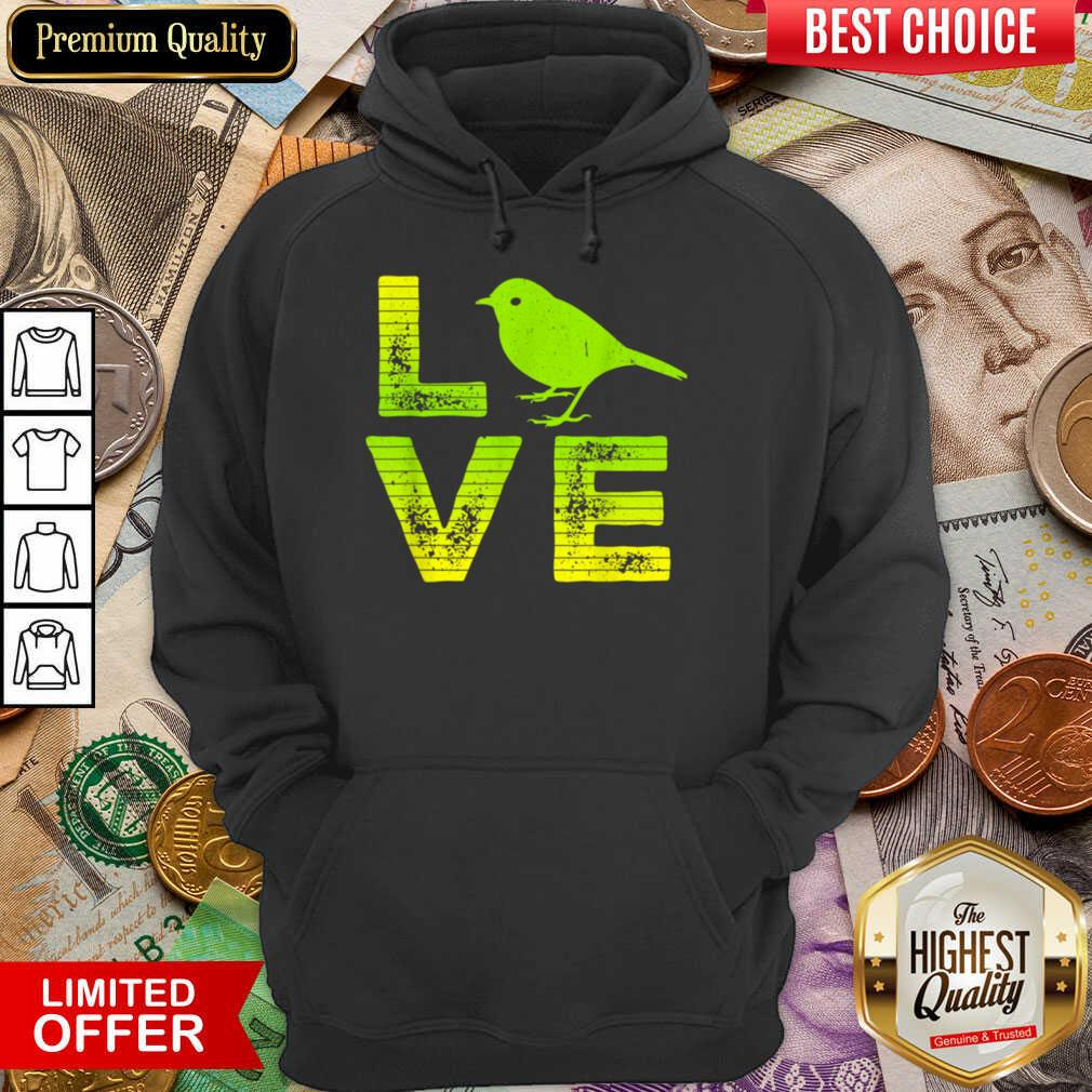 Awesome I Love Sparrows Birds Loving Boys Girls Hoodie