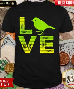 Awesome I Love Sparrows Birds Loving Boys Girls Shirt