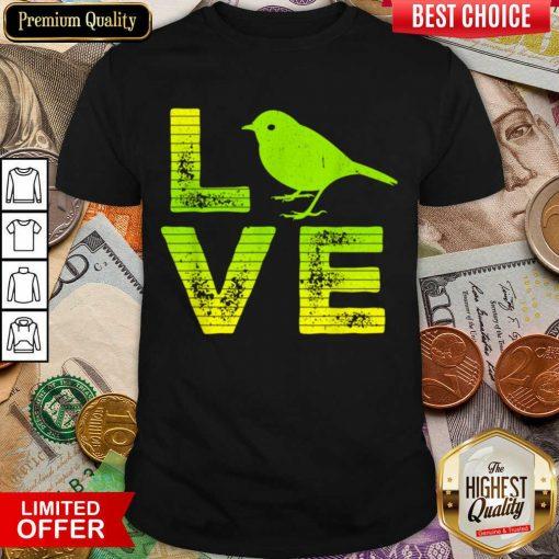 Awesome I Love Sparrows Birds Loving Boys Girls Shirt