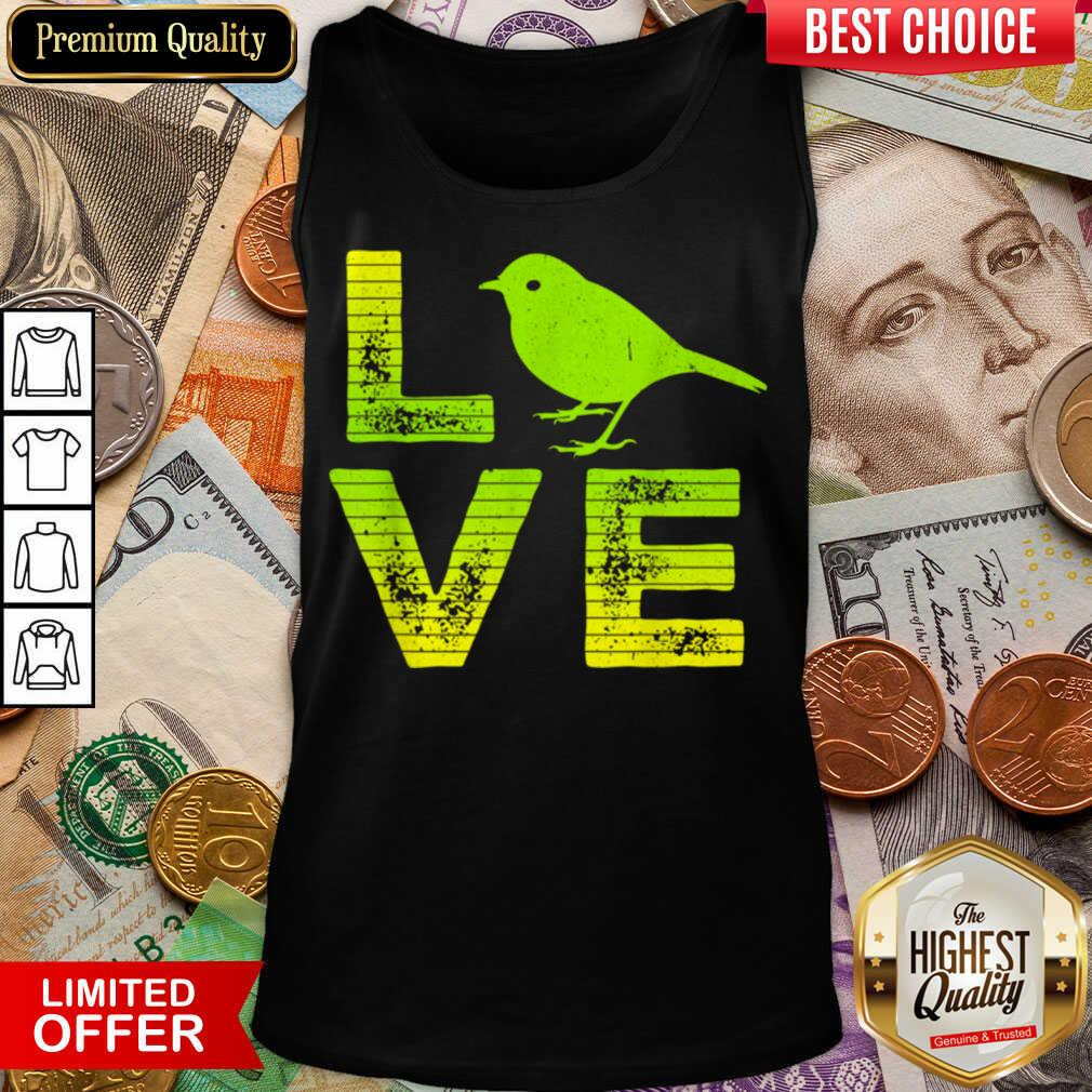 Awesome I Love Sparrows Birds Loving Boys Girls Tank Top