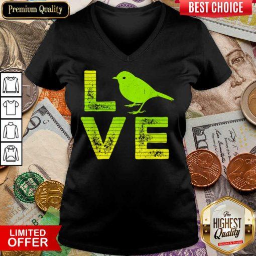 Awesome I Love Sparrows Birds Loving Boys Girls V-neck