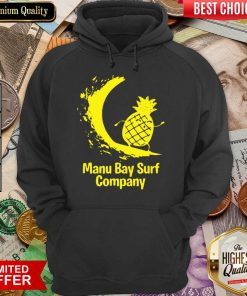 Awesome Manu Bay Surf Gold Surfing Pineapple 11 Hoodie