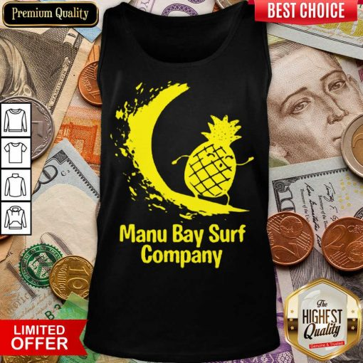 Awesome Manu Bay Surf Gold Surfing Pineapple 11 Tank Top