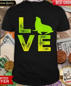 Funny I Love Pinnipeds Seals Loving Boys Girls 2 Shirt