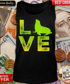 Funny I Love Pinnipeds Seals Loving Boys Girls 2 Tank Top