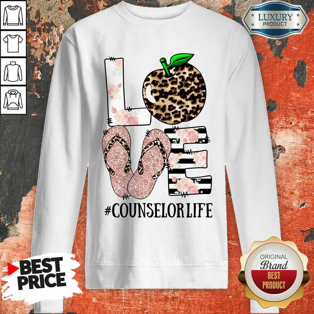 Apple Leopard Love Counselor Life  Sweartshirt