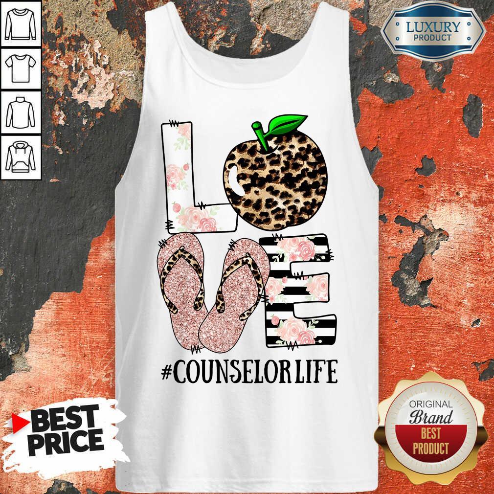 Apple Leopard Love Counselor Life Tank Top