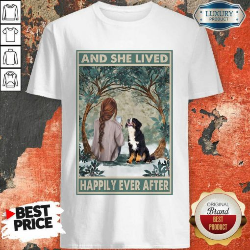 Hot Bernese Mountain Happily Ever After Vertical Poster Shirt