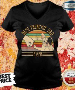 Pretty Bulldog Best Frenchie Dad Ever V-neck