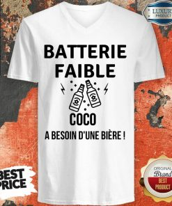 Batterie Faible Bière V-neck