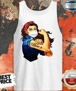 Strong Girl Tattoo Nurse Tank Top