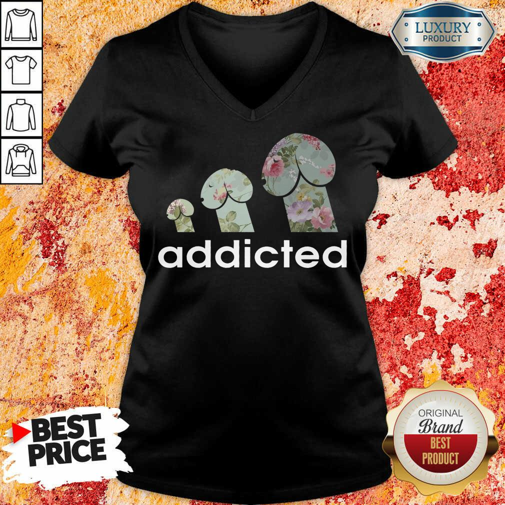 Addicted To Dogs V-neck